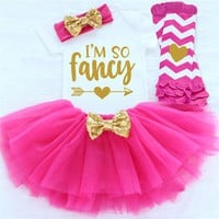 Infant Girl Clothes Set Dress Girls 1st Birthday Outfit Baby Girl Outfits Clothing Sets For First Bi