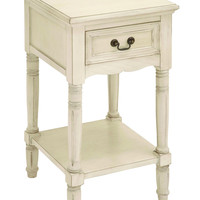 Night Stand in Elegant off White Color with Fine Detailing