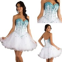 2015 New White Cocktail Homecoming Dresses for Girl Evening Party Wedding