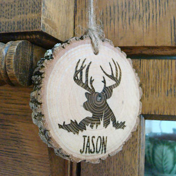 Man Stocking Stuffer, Truck Ornament, Rearview Mirror, Custom Rearview Mirror, Man Gift, Wood Custom, Deer Rear View Mirror Ornament