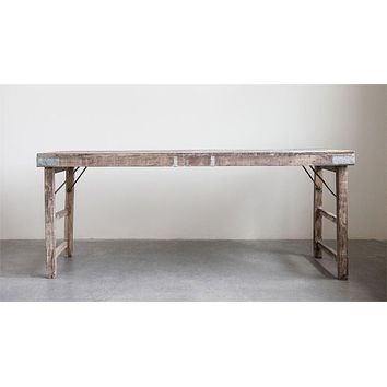Reclaimed Wood Folding Table - 68-in