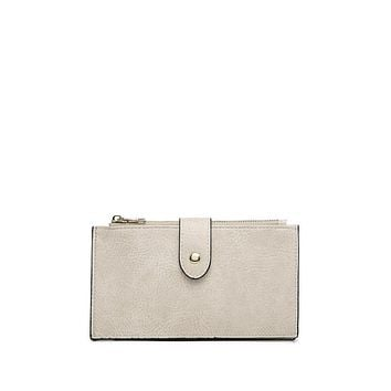 Dual Compartment Wallet in Ivory