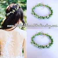 Jane Babys Breath Crown flower girl crown babys breath hair crown White Flower crown toddler, Fresh Flower Crown Flower girl  crown etsy