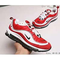 NIKE Air Max OG 98 Trending Men Leisure Personality Running Sport Shoes Sneakers White Red I