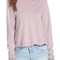 Sundry Embroidered Crop Hoodie | Nordstrom