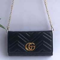 GG Classic Popular Women Shopping Leather GG Buckle Crossbody Satchel Shoulde Bag