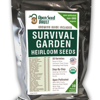 Emergency Survival Garden Vegetable Non-Gmo, Non-Hybrid, Heirloom Seed 30 Variety Kit DIY Gift