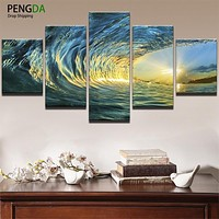 Oil Canvas - Ocean Painting Wall Art Frame