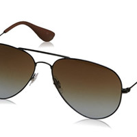 Ray Ban Aviator Sunglasses RB 3558 c. 002/T5 Black Polarized Gradient lens 58mm