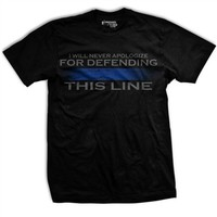 Thin Blue Line WE WILL DEFEND THIS LINE T-Shirt