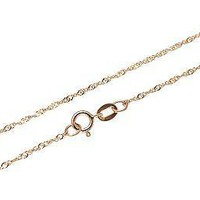 """14K SOLID PINK ROSE GOLD SINGAPORE CHAIN BRACELET 8"""" ONLY $36.99"""