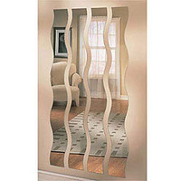 Set of Four Wave Strip Mirrors | Overstock.com