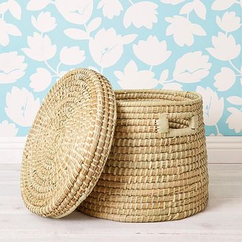 Extra Large Kaisa Basket with Lid