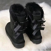 UGG girl Large bow tie Keep warm Snow boots-6