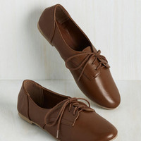 Classic Character Flat in Chestnut | Mod Retro Vintage Flats | ModCloth.com
