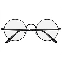 Retro Vintage Classic Round Metal Clear Lens Glasses