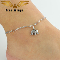 2016 Hot Ankle Bracelet Foot Leg Chain With Silver Color Elephant Charm Sexy Women Foot Jewelry For Girl Best Friend Gifts B2