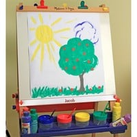 Toddler Melissa & Doug Personalized Wooden Standing Art Easel