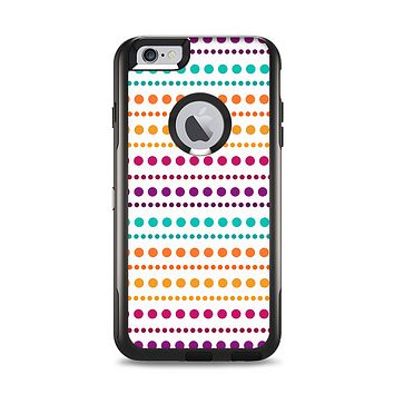 The Colorful Polka Dots on White Apple iPhone 6 Plus Otterbox Commuter Case Skin Set