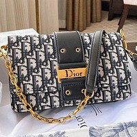 Dior New fashion more letter leather chain shoulder bag crossbody bag