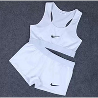 Nike Print Sport Tank Top Vest Bra Shorts Underwear Set Two-Piece Sportswear