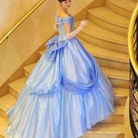 Custom Off Shoulder Disney Wedding Dress/Bridesmaids Dress/Prom Dress K097