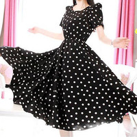 Polka Dot Midi Dress
