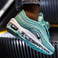 Nike Air Max 97 Men's and Women's Air Cushion Photoproof Bullet Jumping Running Shoes