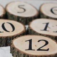 Rustic Log Slice Table Numbers, Rustic Wedding