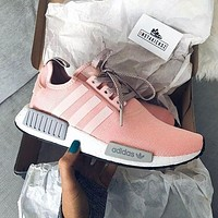 """Adidas"" NMD Women Fashion Trending Running Sports Shoes Sneakers Pink-grey"