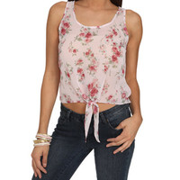 Floral Chiffon Tie-Front Tank | Shop Tops at Wet Seal