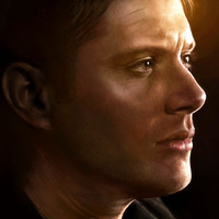 Dean Winchester Painting Print