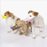 Novelty Cute Duckbilled Dog Muzzle Bark Bite Stop,anti-bite Maske for Dog,color: Yellow , Size L for Small Dog Dachshund Teddy Pet Dog 1 Piece