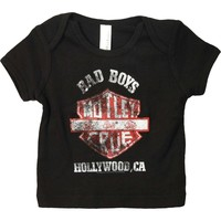 Motley Crue Boys' Bad Boys Shield Childrens T-shirt Black