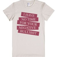 No Time-Female Natural T-Shirt