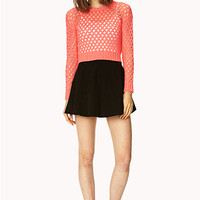Open Book Cropped Sweater