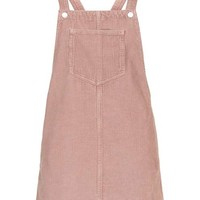 MOTO Pink Cord Pinafore Dress