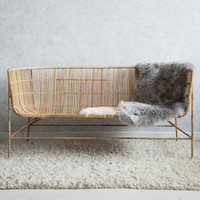 Natural Bamboo Two Seater Sofa