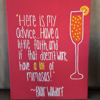 Blair Waldorf Quote Canvas