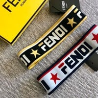 Fendi Pentagonal Star Alphabet Hair Band