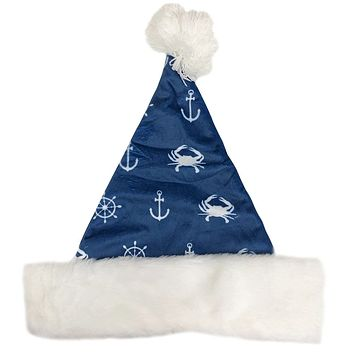 Nautical Crab and Anchor (Blue) / Santa Hat