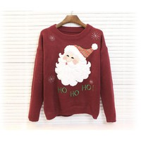 2016 Antumn Winter Women Sweater Cotton Christmas Sweater O-Neck Casual Pull Femme Long Sleeve Women Sweaters And Pullovers