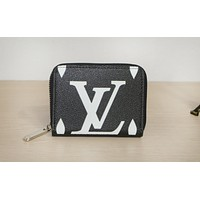 LV fashion hot selling lady's casual print zipper holding small purse #1