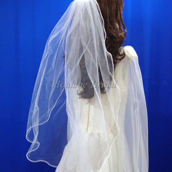 Veils, Pearl edge veils, one layer pearl edge veil, Wedding veil, First Communion veil