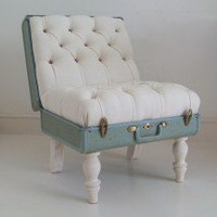 The Suitcase Chair | White Samsonite | Seating | Recreate