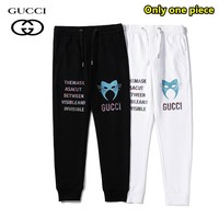 Gucci new fashion casual versatile printed cotton trousers