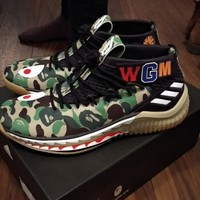 Adidas x Bape Dame 4 AP9974 A Bathing Ape Green 6.5US 6UK