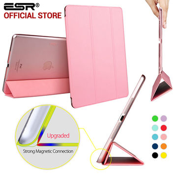Yippee Color PU Transparent Back Ultra Slim Light Weight Trifold Smart Cover Case for iPad Air/iPad5