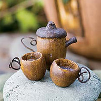 Acorn Tea Set 3 Pieces - My Fairy Gardens