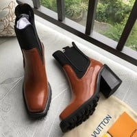 Louis Vuitton Women Fashion Casual High Heels Shoes Boots Shoes